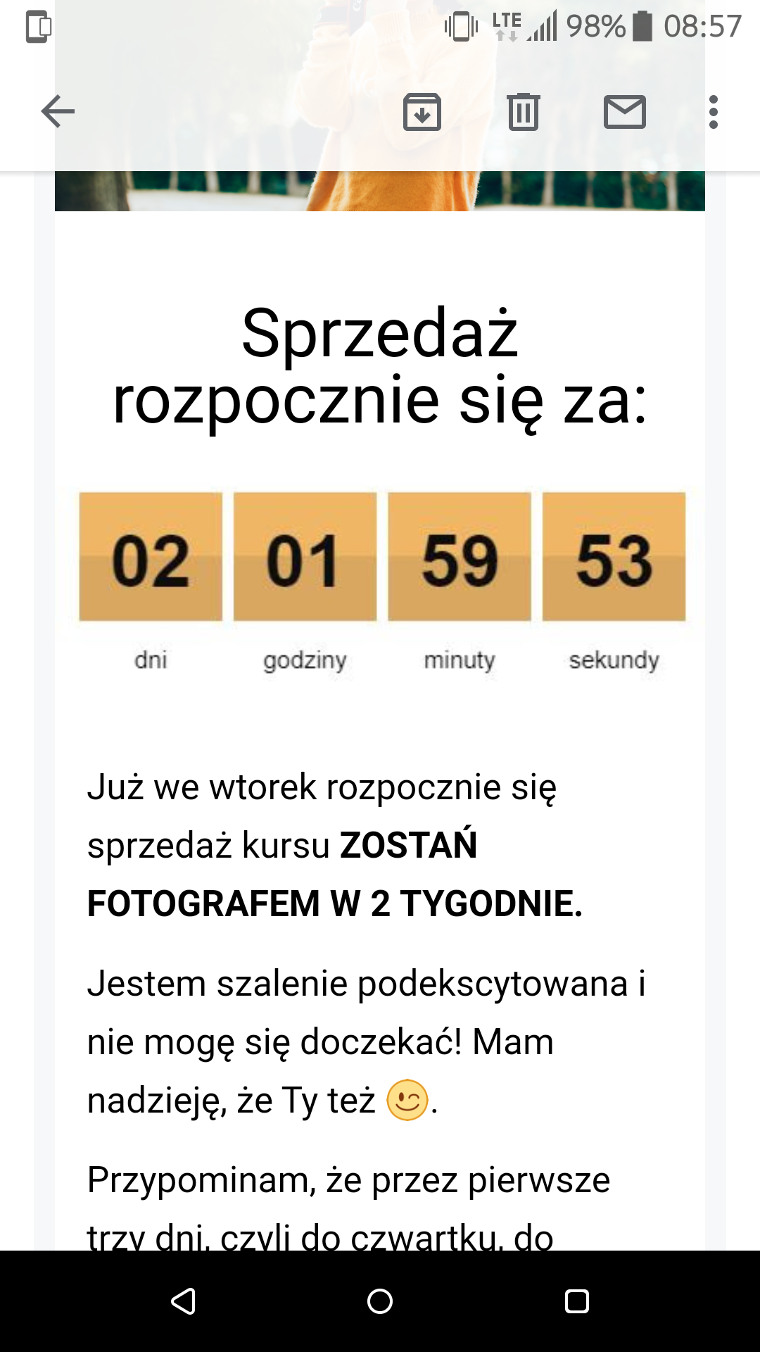 Jak wykorzystać licznik betimes.pl - licznik w mailu
