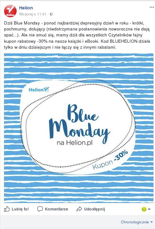 Blue Monday - promocja