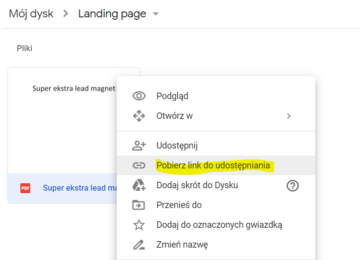 Jak zapisać plik na dysku Google?