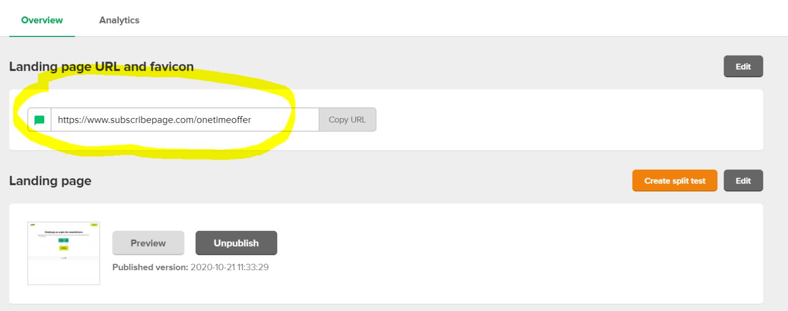Jak stworzyć One Time Offer w Mailerlite?