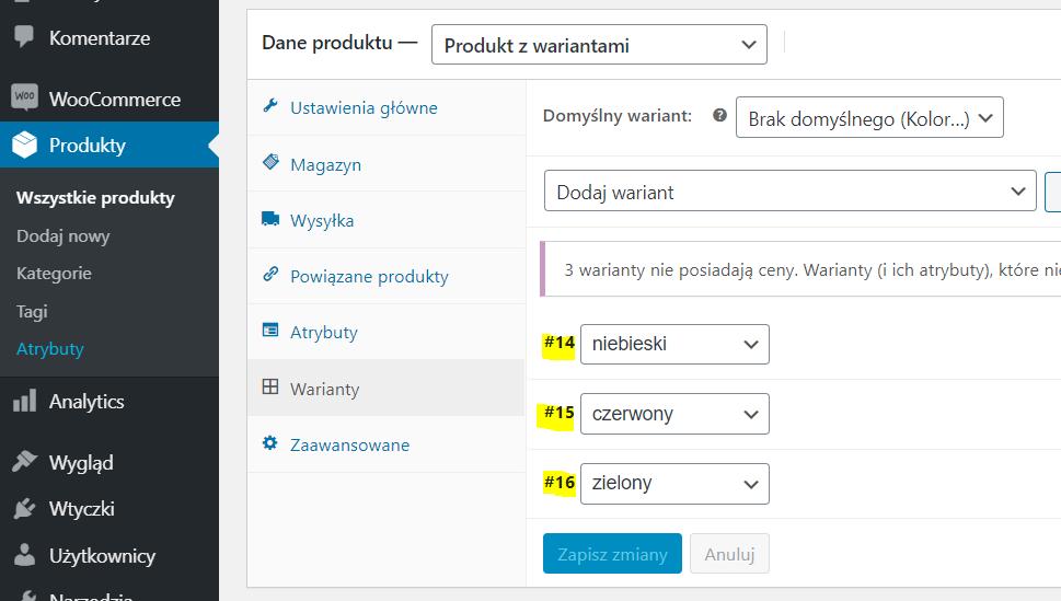 Jak wygenerować link do koszyka w WooCommerce dla produktu z różnymi wariantami?