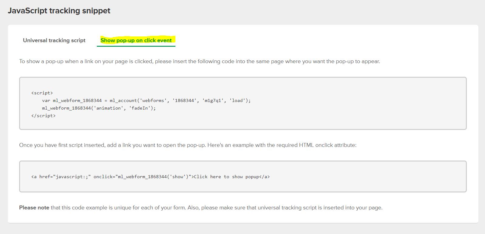 Jak stworzyć pop-up w Mailerlite