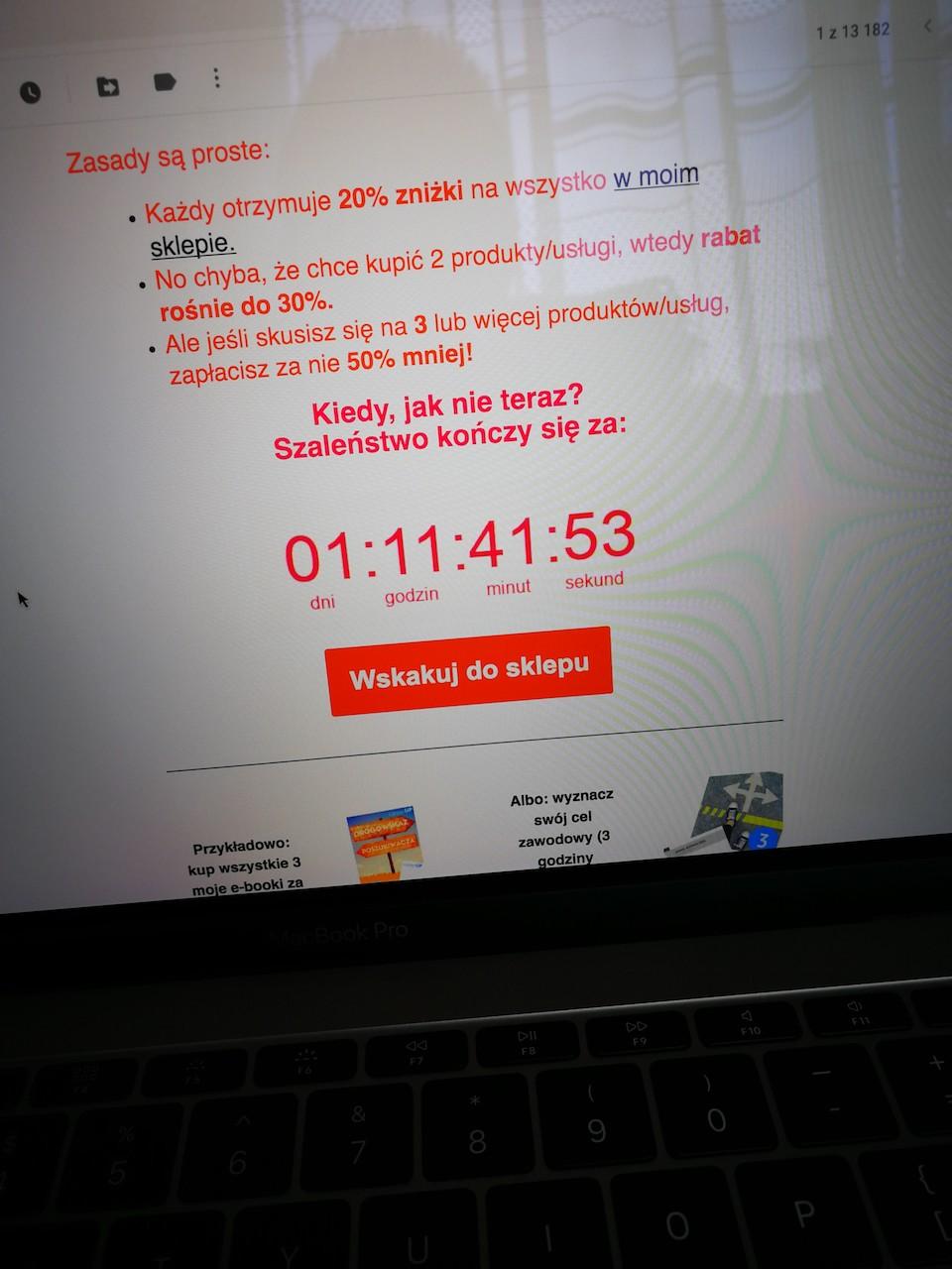beTimes - przykład wykorzystania licznika i One Time Offer w marketingu